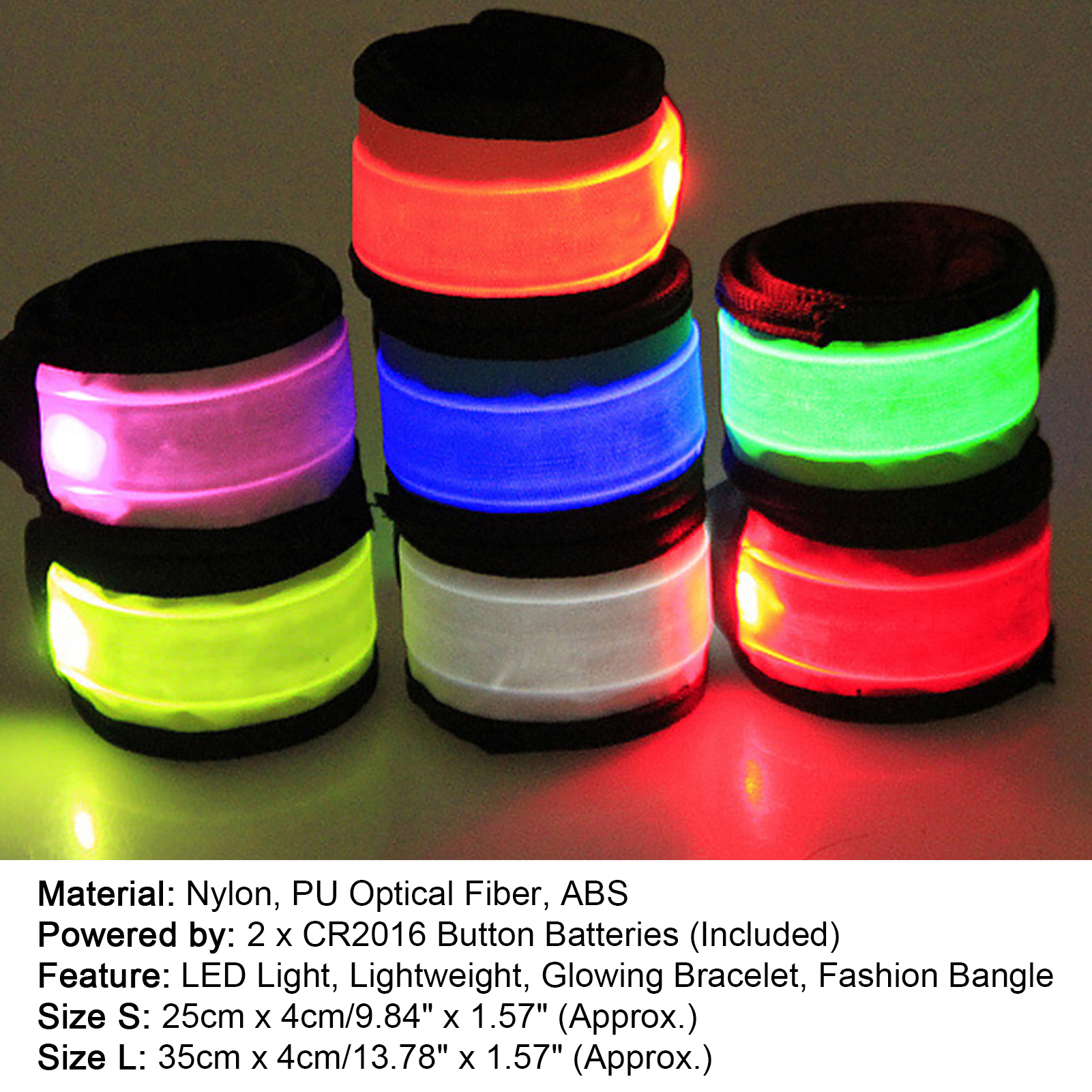 LED-Flashing-Light-Up-Glow-Bracelet-Wristband-Vocal-Concert-Party-Props-Gift-HOT thumbnail 10