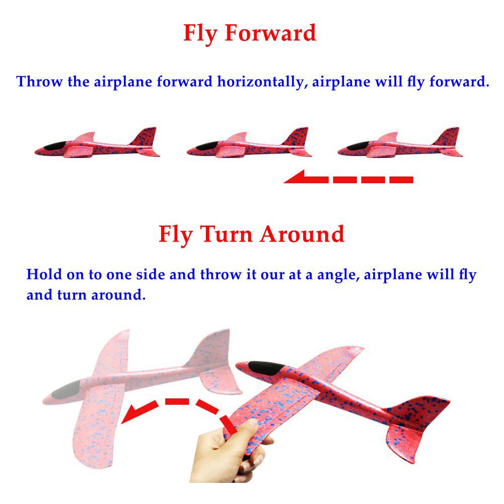 Hand Pulling Throwing Glider Toy Plastic Circling Plane Toy Kid Study Toys